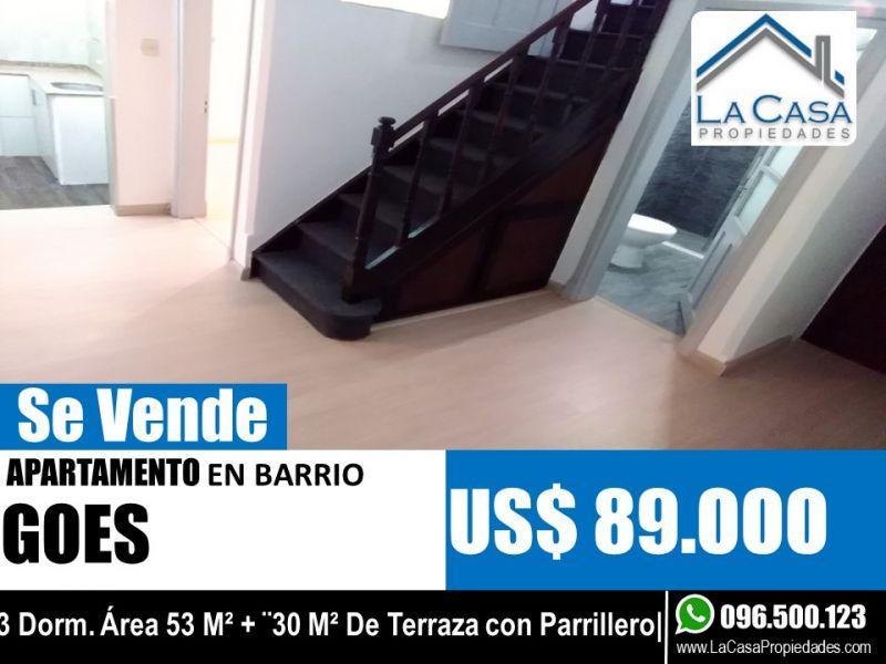 Apartamento En Venta Con Terraza Barbacoa Y Parrillero Ref
